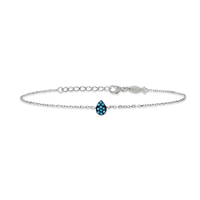 Bracelet Mini Drop Turquoise Argent