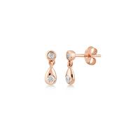 Boucles d'Oreilles Drop Glint Plaqué Or Rose