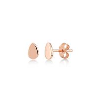 Boucles d'Oreilles Mini Drop Plaqué Or Rose
