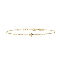 Bracelet Mini Croix Plaqué Or