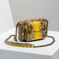Sac Python Charly Jaune Painted Doré
