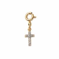 Charm's Croix Plaqué Or