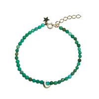Bracelet Perles Lune Turquoise