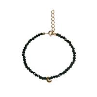 Bracelet Perles Lune Noir