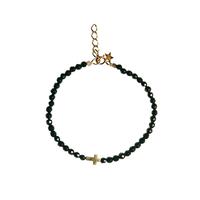 Bracelet Perles Croix Noir