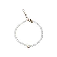 Bracelet Perles Lune Blanc