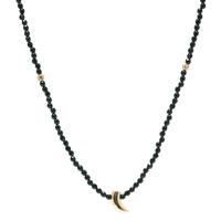 Sautoir Perles Piment Noir Plaqué Or