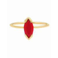 Bague Gaby Corail Or