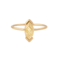 Bague Gaby Quartz Rutile Or