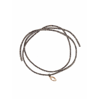 Bracelet Iris Signature Cordon Gris Or