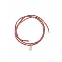 Bracelet Iris Croix Cordon Rouge Or