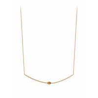 Collier Babylone Citrine Or