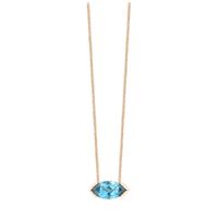 Collier Gaby Topaze Blue Or