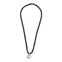 Collier Noir Multi Trous
