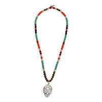 Collier Multicolore Tête de Mort