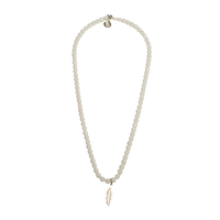 Collier Blanc Plume