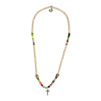 Collier Beige Multi Croix