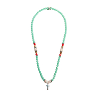 Collier Turquoise Croix