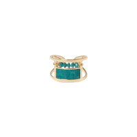 Bague Perles Turquoise