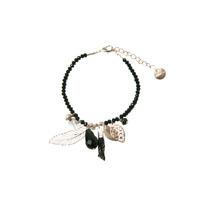 Bracelet Perles Noir Breloques