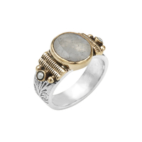 Bague Points Gris & Quartz Gris