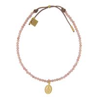 Bracelet Perles Roses Madonne