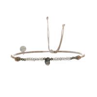 Bracelet Keshi Pyrite Labradorite