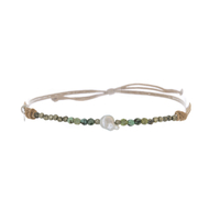 Bracelet Keshi Turquoise & Pyrite