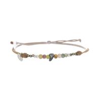 Bracelet Keshi, Tourmaline & Labradorite & Pyrite
