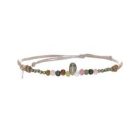 Bracelet Keshi, Tourmaline & Pyrite