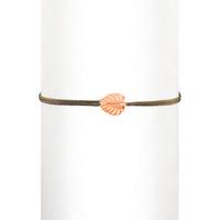 Bracelet Cordon Feuille