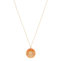 Collier Orange Soleil Levant