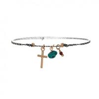 Bracelet Summer Croix Gris