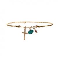 Bracelet Summer Croix Taupe