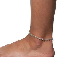 Bracelet Cheville Bleu Argent