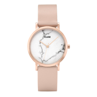 La Roche, Rose Gold White Marble, Nude/Rose
