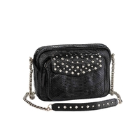Sac Python Big Charly Noir Clous