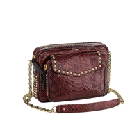 Sac Python Big Charly Burgundi Clous