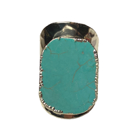 Bague Large Silver Pierre Turquoise
