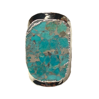 Bague Large Silver Multi-Turquoise