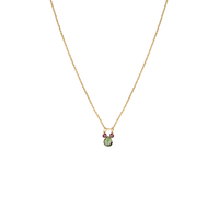 Collier Drop Green Or