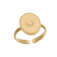 Bague Médaille Soleil Or