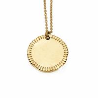 Collier Médaille Frisée Or