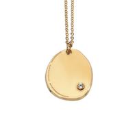 Collier Médaille Zircon Or