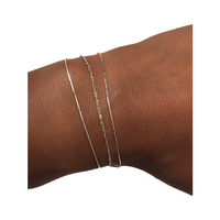 Bracelet Chaine 3 Rangs Argent