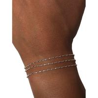 Bracelet Chaine 3 Rangs Uniforme Argent