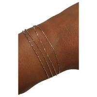 Bracelet Chaine 4 Rangs Argent