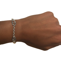 Bracelet Chaine Style Hermes Argent