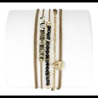 Bracelet Emma Spinel Noir