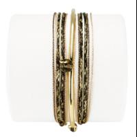 Bracelet Kelly Noir Doré